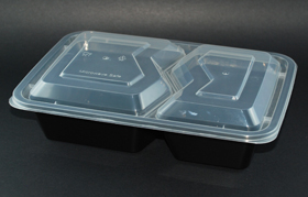 two compartment food container