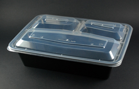 3 compartment food container